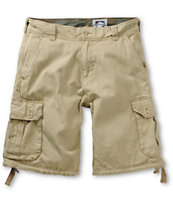 Free World Debacle Khaki Cargo Shorts