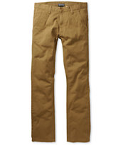 Free World Drifter Slim Straight Fit Dark Khaki Chino Pants