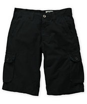 Free World Fiasco Black Ripstop Cargo Shorts