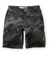 Free World Hooligan Rambler Dark Camo Chino Shorts