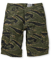 Free World Informant Tiger Camo Ripstop Cargo Shorts