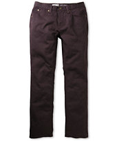 Free World Messenger 5 Pocket Twill Black Cherry Pants
