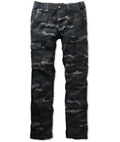Free World Messenger Black Camo Skinny Cargo Pants