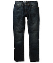 Free World Messenger Dark Dirty Denim Skinny Jeans