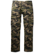 Free World Night Train Dark Khaki Camo Regular Fit Cargo Pants