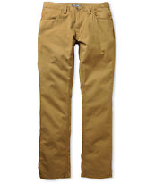 Free World Night Train Dark Khaki Regular Fit Twill Pants