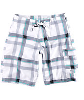 "Free World North Beach Plaid 21"" Board Shorts"