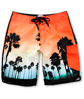 Free World Oceanside Tropical Print Board Shorts