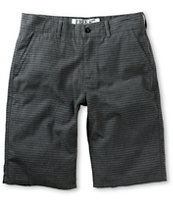Free World Riley Black Horizontal Pinstripe Chino Shorts