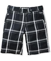 Free World Riley Black Plaid Chino Shorts
