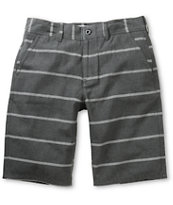 Free World Riley Charcoal Stripe Chino Shorts