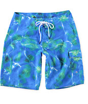 "Free World Splash Wave Print 21"" Board Shorts"