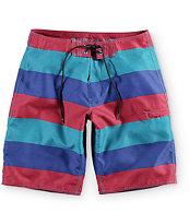 "Free World Zoom Stripe 21"" Board Shorts"