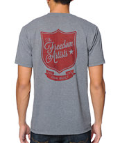 Freedom Artists Army Red Heather Grey Tee Shirt