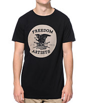 Freedom Artists Circle Built Black Tee Shirt