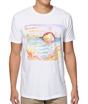 Freedom Artists Oceanscape White Tee Shirt