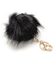 Fuzzy colgante para bolso de pelo negro