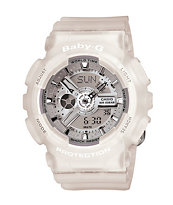 G-Shock BA110-7A2 Clear & Silver Baby-G Girls Digital Watch