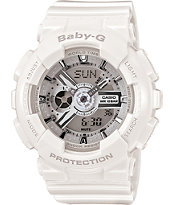 G-Shock BA110-7A3 White & Silver Baby-G Girls Digital Watch
