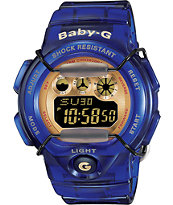 G-Shock BG1005A-2 Baby-G Transparent Royal Blue & Gold Watch