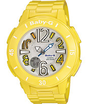 G-Shock BGA170-9B Neon Illuminator Yellow & White Watch