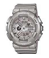 G-Shock Baby-G BA110-8A Silver Girls Digital Watch
