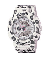 G-Shock Baby-G BA110LP-7A Leopard Print White Watch