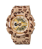 G-Shock Baby-G BA110LP-9A Leopard Print Gold Watch