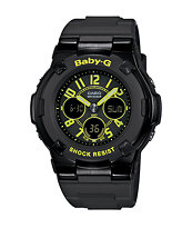 G-Shock Baby-G BGA117-1B3 Street Neon Black Watch