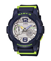 G-Shock Baby-G BGA180-2B Navy & Lime Watch