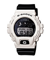 G-Shock DW6900GW-7 Garish White & Black Watch