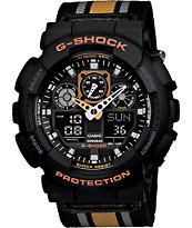G-Shock GA-100MC-1A4 Chronograph Black & Yellow Ana-Digi Watch
