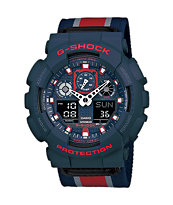 G-Shock GA-100MC-2A Chronograph Blue & Red Ana-Digi Watch