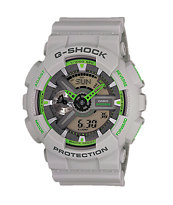G-Shock GA-110TS Light Grey & Green Watch