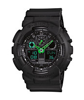 G-Shock GA100C-1A3 Black & Neon Green Digital Chronograph Watch