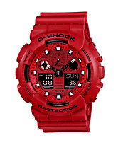 G-Shock GA100C-4A Bright Red Digital Chronograph Watch