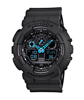 G-Shock GA100C-8A Charcoal & Blue Digital Chronograph Watch