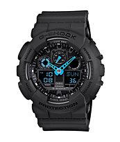 G-Shock GA100C-8A Charcoal & Blue Digital Chronograph Watch