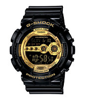 G-Shock GD100GB-1 Black & Gold Digital Watch