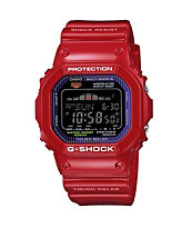 G-Shock GWX-5600C-7 G-Lide Red Solar Powered Digital Tide Watch