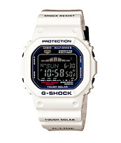 G-Shock GWX-5600C-7 G-Lide White Solar Powered Tide Watch