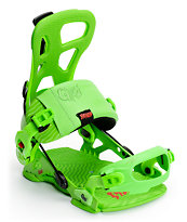 GNU Psych Green 2014 Speed Entry Snowboard Bindings