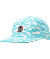 Girl Crail Clouds Light Blue 5 Panel Hat