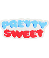 Girl x Pretty Sweet Red & Blue Decal Sticker