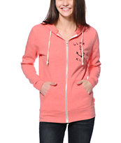 Glamour Kills Anchor Coral Zip Up Hoodie