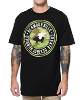Glamour Kills Camo Circle Black Tee Shirt