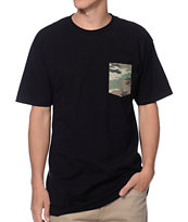 Glamour Kills Claymore Camo Black Pocket Tee Shirt