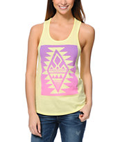 Glamour Kills Crystal Skullz Yellow Tank Top