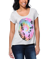 Glamour Kills Dream Forever Heather White Top