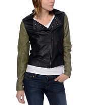 Glamour Kills Dreamers Club Black Motorcycle Jacket